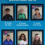 Students of the Month Dec 2016