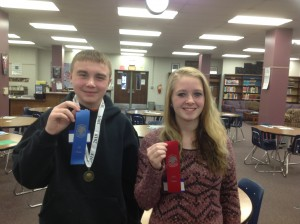 Geography Bee Winners, Reece Vydrzal and Lauren Ihle