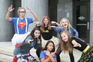 Volleyball Girls Super Heroes