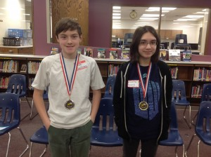 Spelling Bee Winner, Juliette Welch, and Alternate, Sam Quackenboss