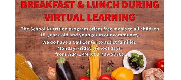 Virtual learning free meals
