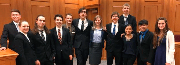 Central Mock Trial Team Going To State Competition